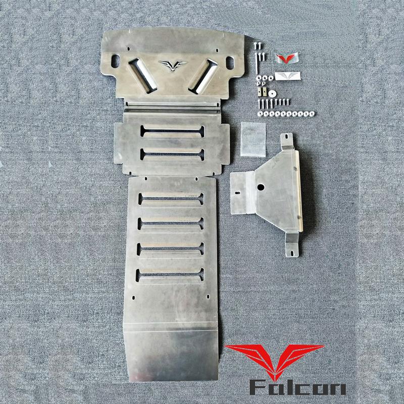 专用于三菱V93V95V97底盘护板8MM铝镁合金帕杰罗越野发动机护甲
